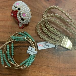 FREE with purchase new bracelets and a pendant